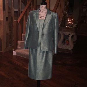 KASPER green shimmer 3 pc suit. SIZE: 10P